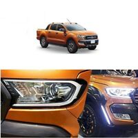 DRL Led Headlight Covers Fit Ford Ranger Wildtrak XLT XLS 2015-18 PX2 PX3 6000k