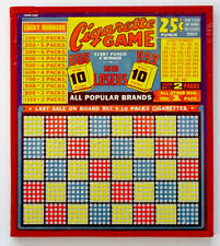 Vintage UNPUNCHED UNUSED Gambling Trade Stimulator CIGARETTE PUNCH BOARD Game