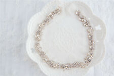 Gorgeous Wedding Accessories Diamante Motif Beaded Crystal Bridal Dress Applique