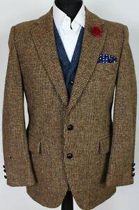 Harris Tweed Blazer Jacket Brown 38R SUPERB QUALITY X235
