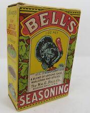 BELL'S SEASONING SPICE BOX BOSTON MASSACHUSETTS Good Housekeeping TURKEY VINTAGE