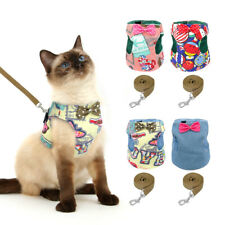 Cat Walking Jacket Harness and Lead Adjustable Pet Puppy Small Dog Vest Clothes
