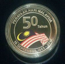 Willie: 50 Years Malaysia Day Silver Proof coin with cert and box