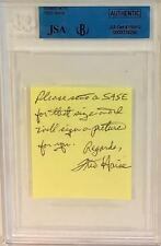 FRED HAISE Signed note Autograph Apollo 11 Astronaut JSA Beckett Encapsulated