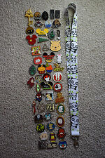 Disney pin trading Starter Set Lanyard + 50 pin lot NEW Panda Bears Black White