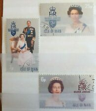 1977 GB Isle Of Man Full Set Of 3 Stamps - Queens Silver Jubilee - PC/LH