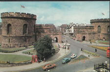 Cumbria Postcard - Law Courts and English Street, Carlisle   RS4476