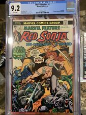 MARVEL FEATURE 1 CGC 9.2 CG 1ST BOOK TO RED SONJA MARVEL COMICS 1975