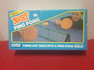 Vintage 1987 NERF PING PONG! Parker Brothers Official Tabletop Game *COMPLETE*