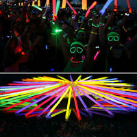 10-300pcs Glow Sticks Bracelets Necklaces Neon Colours Party Favors Rave Disco