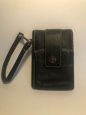 Giani Bernini Black Genuine Leather Wallet/ Bifold Wallet With Outer Pocket