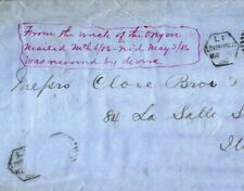 More details for gb usa transatlantic london late mail *ss oregon* wreck cover 1886 chicago a4g76