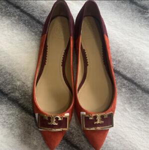 Tory Burch Gigi Pointed Toe Colorblock Flats Women