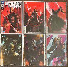 Deathstroke vs Batman #30,32,34,36,37,38 DC Comics Priest Mattina lot Nm