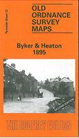 OLD ORDNANCE SURVEY MAP BYKER & HEATON 1895 NEWCASTLE OUSEBURN JESMOND VALE
