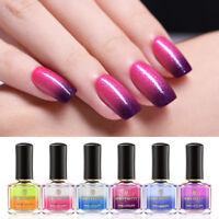 BORN PRETTY 6ml Glitter Thermal Nail Polish Nail Art Varnish Color Changing Tips