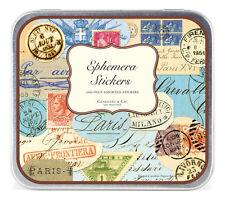 Cavallini & Co. Ephemera Decorative Label Sticker Set : Keepsake Tin