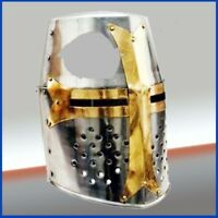 Armor Knight Crusader New Templar Helmet Helm Brass Cross