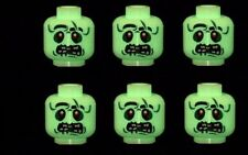Minifigure Heads Zombie Alien (Glow) UFO Monsters Custom Printed on LEGO Parts