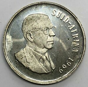 1969 South Africa 1 Rand Silver Proof Coin (G367)