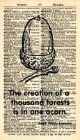 ORIGINAL Acorn Vintage Dictionary Art Print - Acorn Quote Art Print 1028B