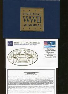 National World War II Memorial 2004 First Day of Issue Cover with Leather Case