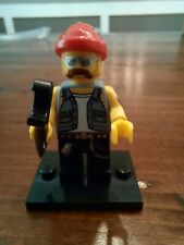 Lego Motorcycle Guy Minifigure Mechanic Series 10 Cmf