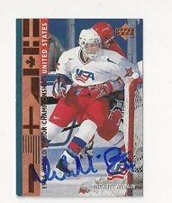 1996 Upper Deck Autographed Hockey Card Michael McBain Team USA