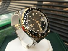 ~Rare~ Rolex 16713 GMT Master II Two Tone Black Dial Watch with Box & Papers