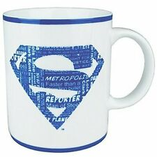 Superman Mugs with Blue and White Logo
