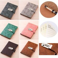 A5 Leather Cover Diary Journal Notebook with Combination Password Lock For Girl