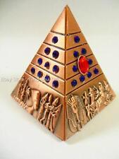 NEW Feng Shui Egypt Egyptian Copper Tone Pyramid REIKI Chakra Healing Amulet #Bl