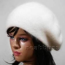 wool BERET beanie Knit winter women's Hats Cap ski NWT angora