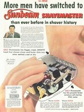 1952 Sunbeam ShaveMaster Electric Shaver Cut-a-way view  PRINT AD