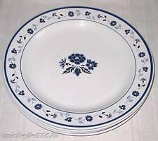 4 Royal Stratford Paul Marshall Blue Whte Floral Plates