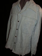 Vtg 70 mr leggs Retro Denim Jean Disco Safari Leisure Brush Jacket Coat