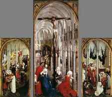 Weyden Seven Sacraments Altarpiece A4 Print