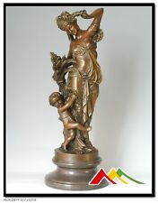 """A.CARRIER bronze statue, LADY W/CHILD """"SEPTEMBER"""""""