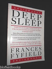 Frances Fyfield: Tiefschlaf - 1991-1st - Review Kopie, Crime Fiction, Helen West