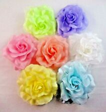Flower Hair Clip Rose Ponytail Holder Pin Summer Colors Dancer 5 Inches