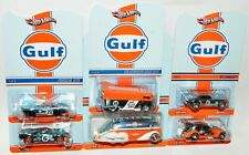"Hot Wheels RLC Gulf Set Bus Ford GT Porsche Camaro Beetle Rocket Oil ""MOC"""