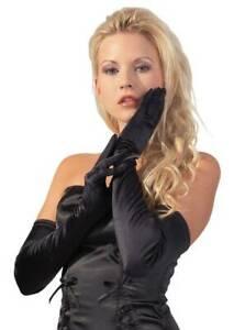 Dessous - Edle elegante Satin Handschuhe in diversen Farben