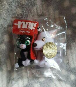 Disney Bolt Japanese Rare Promotional Mascot Plush Strap Keychains Bolt, Mittens