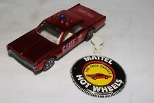 HOT WHEELS REDLINE FIRE CHIEF CRUISER W/ BUTTON, NICE, ORIGINAL, LOT B
