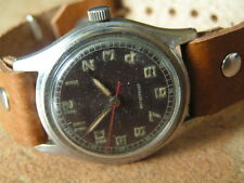 Rarity ! Vintage HENRY MOSER Pilot/Military Wrist Watch, Sweep Second, Early WW2