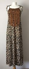 leopard print maxi dress Tassel Detail size 6-8
