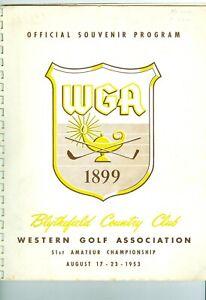 51st Western Amateur Championship Program 1953 & 61 Western Open Tickets Palmer