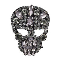 1Pc Rhinestones Skull Beaded Sequins Sew On Patches for clothes Applique Bag Gy