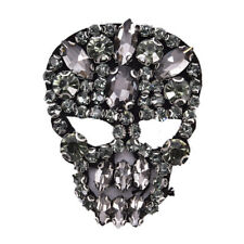 1Pc Rhinestones Skull Beaded Sequins Sew On Patches for clothes DIY Applique_LA