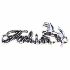 20pcs New Pretty Horse Charms Plated Silvery Connector Pendant Fit Necklace D
